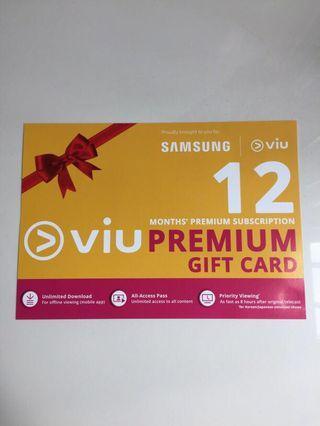 Viu Premium Gift Card 12 Months' Premium Subscription