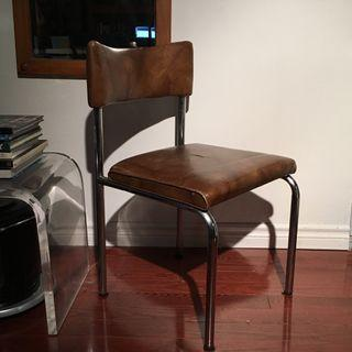 Steel and Leather Chair
