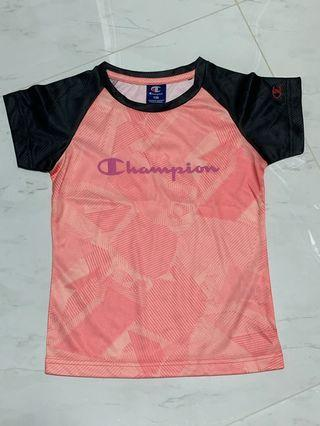 Champion kids dri fit tee (Pink)