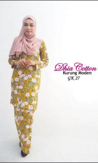 DHIA COTTON KURUNG MODEN