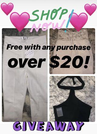 FREE WITH ANY PURCHASE OVER $20