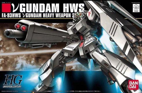 5算發售 全新未砌 Hguc 1/144 RX-93 nu v FA-93 hws 重裝備 Gundam char 馬沙之反擊 0093 hg 高達 模型 FA 高達模型 阿寶 全武裝 heavy weapon system hws rg mg