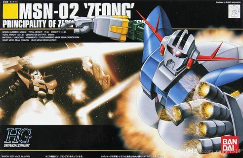 全新未砌 Hguc 1/144 MSN-02 Zeong 自護號 Gundam char 馬沙 0079 hg 高達 模型 一年戰爭 高達模型 rg mg