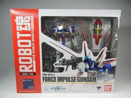 二手日版 Robot 魂 force impulse gundam 威力型 脈衝 高達 Zgmf-x56s/a seed destiny side ms 205 高達模型 高達 1/144 hg rg mg