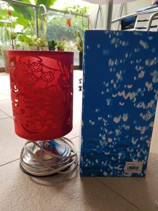 Chinese wedding prosperity lamps (a pair)