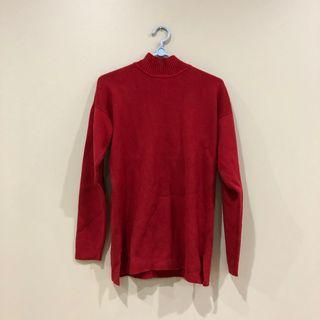 Red 100% Wool Jumper