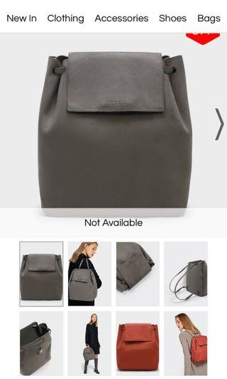 🚚 Charles and Keith front flap shoulder bag in grey suede