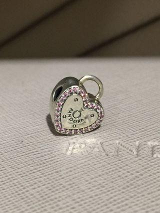 Pandora Heart-lock Clip