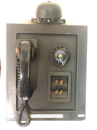Antique Phone with Rotary Old Dial