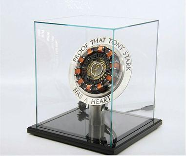 Iron Man Alloy Arc Reactor ( With Light up function and Clear Plexiglas Display Box  )