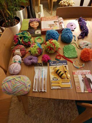 set of knitting kit