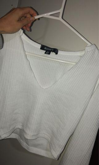 BNWT Ribbed White Top