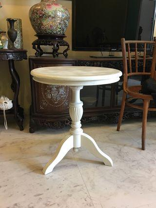 White Teak Side table