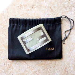 Fendi FF Logo Resin Cuff Bracelet