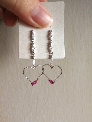 (FREE DELIVERY) Love droplet earring