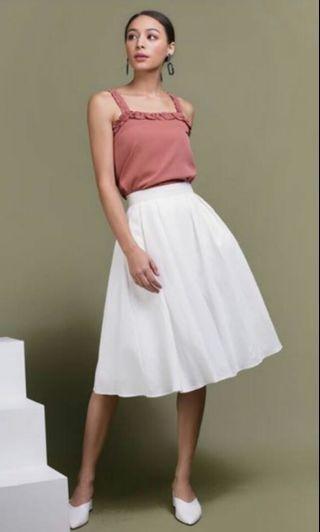 BNWT TTR Get Lucky Midi Skirt in White