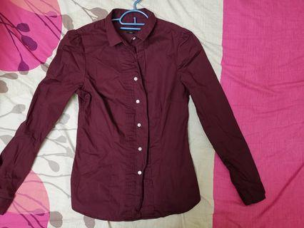 Wine Red formal tops