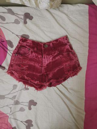 Wine Red Short Pants