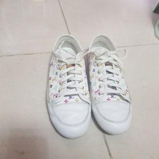 LV multi colour monogram sneakers絕版村上隆波鞋