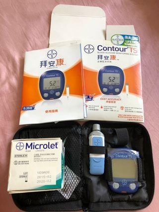 拜安康血糖監察系統 Contour TS 血糖機 連配件 (試紙已過期,只作參考用)