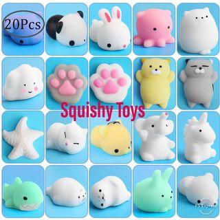 Squishy Toys set of 20 pcs