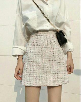 BNIB Tweed Skirt in Pastel