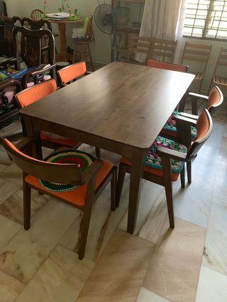 Dining Table Set for 6 pax or 4 pax