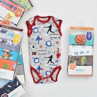 Carter's Bodysuits Sleveless baby romper boy girl onesie
