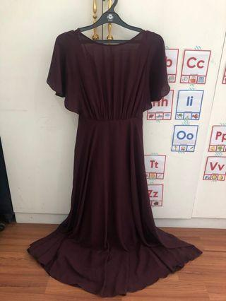 Love, Bonito Maroon Dress