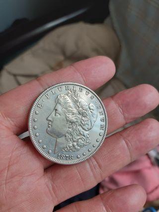 1878年銀币一個26o元
