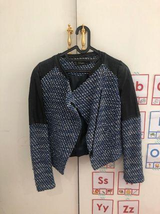 Zara tweed jacket blue