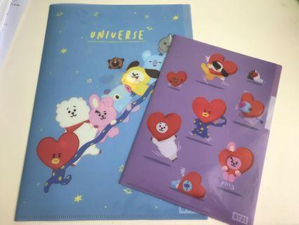 BT21 A4&A5 file from korea