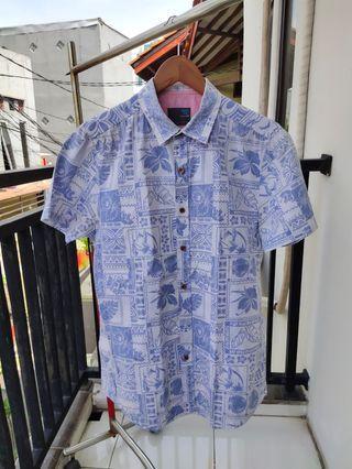 Kemeja Hawai: MEN'S TOP Hawaiian Shirt Blue - Size M