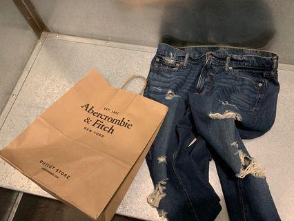 Abercrombie & Fitch 修身潮褲 美國購入正品33腰 牛仔褲