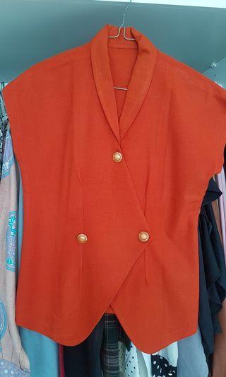 Blus Orange Ethnic