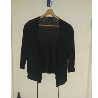 Seduce black knitted wrap top