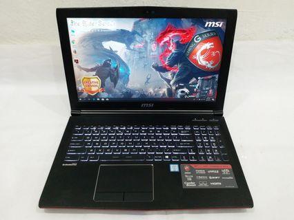 MSI GP62 6QF Core i7-6700HQ @ 2.6GHz, 8GB DDR4 Ram, 1TB HDD + 128GB SSD, NVIDIA GTX 960M @ 2GB GDDR5 VRAM, 15.6 inch FHD, Backlight Keyboard