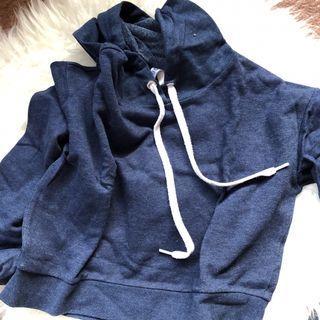 h&m hoodie navy