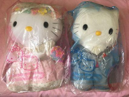 中古 Hello Kitty Soft Toys 毛公仔 共6個