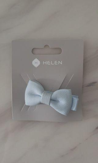 🚚 Baby blue ribbon hair clip