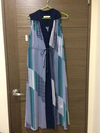🎏夏日透紗長版洋裝👗(可當外罩)盡全新🎉