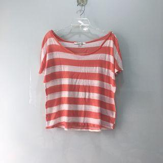 Forever 21 Wide Neck Striped Top