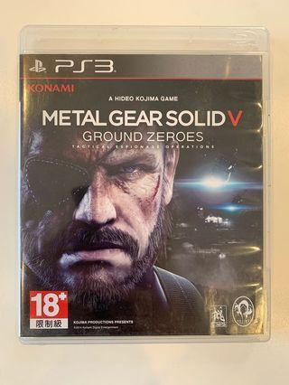 PS3 Game - Metal Gear V Ground Zero