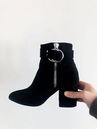 BLACK ANKLE BOOTS HEELS