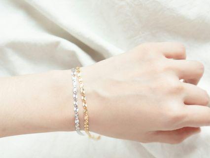 925 silver lace pattern bracelet
