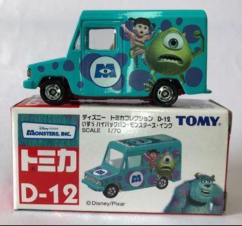 Tomica D-12 Monster Inc 怪獸公司 Isuzu