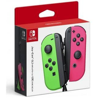 Nintendo Switch Joycon Neon Green Neon Pink