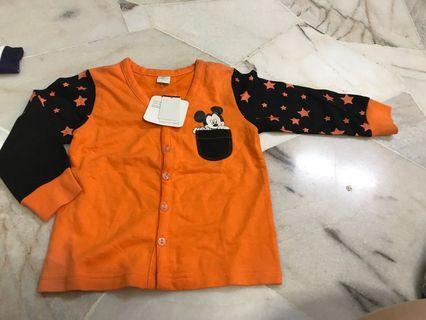 Mickey orange cardigan