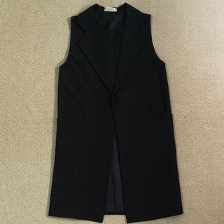 🚚 BN Made in Korea Long Vest with Pocket in Black