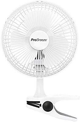 """[HG363] Pro Breeze® Professional 6"""" Mini Clip Fan for Home, Bed, Office and Desk Small Electric Fan with Ultra Quiet Operation & 2 Speed Settings"""
